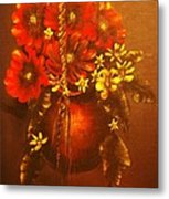 Hanging Flower Pot-original Sold-buy Giclee Print Nr 24 Of Limited Edition Of 40 Prints   Metal Print