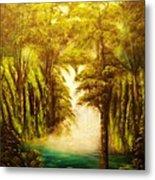 Hidden Falls-original Sold-- Buy Giclee Print Nr 27 Of Limited Edition Of 40 Prints  Metal Print