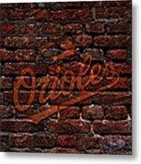 Orioles Baseball Graffiti On Brick  Metal Print