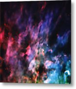 Orion Nebula Rainbow Smoke Metal Print