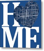 Orlando Street Map Home Heart - Orlando Florida Road Map In A He Metal Print