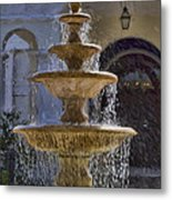 Ormond Water Fountain Metal Print