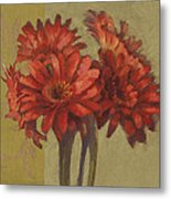 Ornamental Gerbers Metal Print