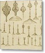 Ornamental Knobs Shaped As Domes Metal Print