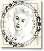 Ornamental Marilyn Metal Print