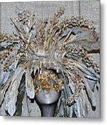 Ornamental Mask Metal Print