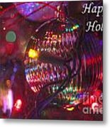 Ornaments-2038-happyholidays Metal Print