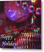 Ornaments-2054-happyholidays Metal Print