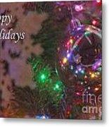 Ornaments-2096-happyholidays Metal Print