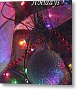 Ornaments-2136-happyholidays Metal Print