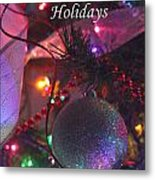 Ornaments-2143-happyholidays Metal Print
