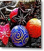 Ornaments 7 Metal Print by Sarah Loft