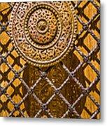 Ornate Door Knob Metal Print