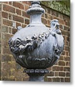 Ornate Garden Urn Metal Print