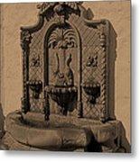 Ornate Wall Fountain Metal Print