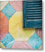 Ornate Wall With Shutter Metal Print
