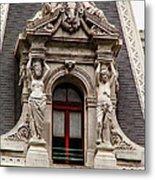 Ornate Window Of City Hall Philadelphia Metal Print