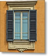 Ornate Window Of Rome Metal Print