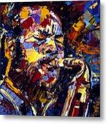 Ornette Coleman Jazz Faces Series Metal Print