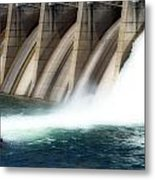 Oroville Dam Unleashed Metal Print