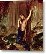 Orpheus At The Tomb Of Eurydice Metal Print