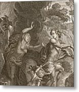 Orpheus, Leading Eurydice Out Of Hell Metal Print