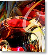 Orrefors Glass Reflecions Metal Print