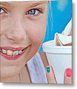 Orthodontic Smile Metal Print