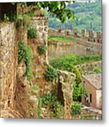 Orvieto Battlement Metal Print