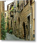 Orvieto Lane Metal Print