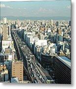 Osaka Cityscape Metal Print