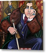 Oscar Wilde And The Picture Of Dorian Gray Metal Print by Victoria De Almeida