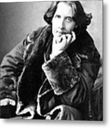 Oscar Wilde In His Favourite Coat 1882 Metal Print
