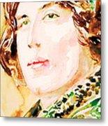 Oscar Wilde Watercolor Portrait.3 Metal Print