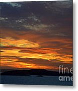 Oslo Fjord At Sunset Metal Print