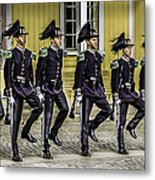 Oslo Royal Palace Guards Metal Print