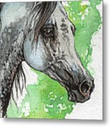 Ostragon Polish Arabian Horse Painting 1 Metal Print