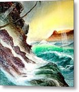 Othere Side Of Diamondhead Waikiki Hawaii Metal Print