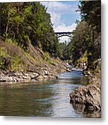 Ottauquechee River Flowing Through The Quechee Gorge Metal Print