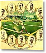 Our Baseball Heroes Metal Print by Pg Reproductions