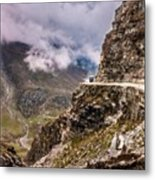 Our Bus Journey Through The Himalayas Metal Print