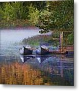 Our Canoes Await Metal Print