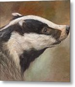 Our Friend The Badger Metal Print