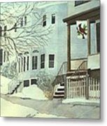 Our House In Medford Metal Print