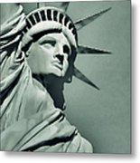 Our Lady Liberty - Verdigris Tone Metal Print