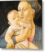 Our Lady Nursing The Child Metal Print