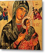 Our Lady Of Perpetual Help Icon II Metal Print by Ryszard Sleczka