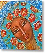 Our Lady Of The Roses Metal Print