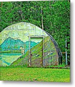 Our Lady Of The Way Quonset Hut Chapel In Haines Junction-yt Metal Print