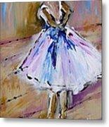 Our  Ballerina Girl Painting Metal Print